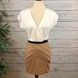 Xtaren 2 Tone Pleated Skirt Dress